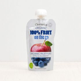 Clearspring Organic 100% Fruit on the Go - Apple & Blueberry 8x (1x120g)