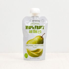 Clearspring Organic 100% Fruit on the Go - Pear 8 x(1x120g)