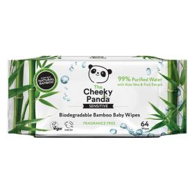 Cheeky Panda Biodegradable Bamboo 64 Baby Wipes x24
