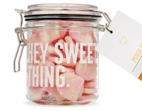 Candy Kittens Peach Fizz Gift Jar 250g x6