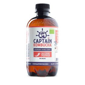 Captain Kombucha Cayenne Pepper Bio-Organic Bubbly Drink 400ml x12