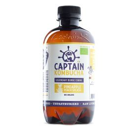 Captain Kombucha Pineapple Peach Splash Bio-Organic Bubbly Drink 400ml x12