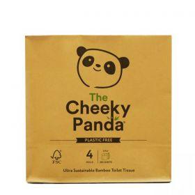 Cheeky Panda Plastic Free Toilet Tissue Bamboo 3ply (100% FSC) 4 rolls x6