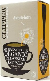 Clipper Organic Dandelion (Cleansing) Infusion Tea Bags 30g (20's) x6