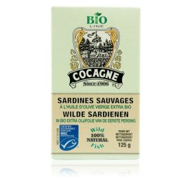 Cocagne - MSC Sardines in organic extra virgin olive oil ( Bio) - 125gr
