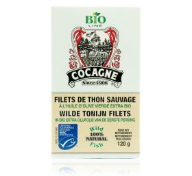 Cocagne - MSC Tuna fillets in organic extra virgin olive oil ( Bio) - 120gr
