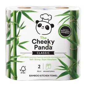 Cheeky Panda Kitchen Towel Bamboo 2ply (100% FSC) 200's x5