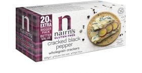 Nairn's wholegrain  Cracked Black Pepper Crackers 8x137g