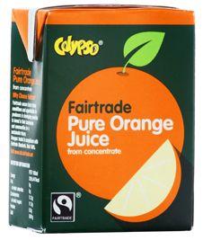 Calypso Fairtrade Pure Orange Fruit Juice 27x200ml