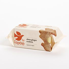 Doves Farm Freee Organic Stem Ginger Cookies 150g x12