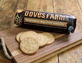 Doves Farm Wholewheat Digestives 400g x12