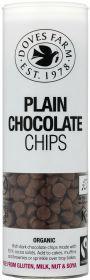 Doves Farm Fair Trade & Organic Plain Chocolate Chips 140g x6
