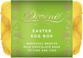 Divine Fairtrade Easter Egg Box 120g x6