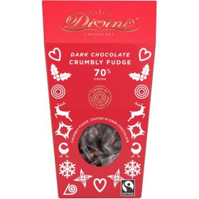 Divine Dark Chocolate Fudge 130g x8