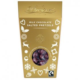 Divine Milk Chocolate Pretzels 110g x8