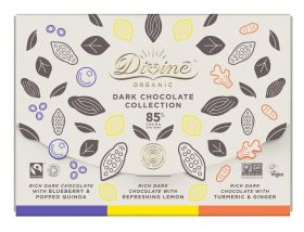 Divine Organic Fairtrade Vegan Dark Gift Bar Collection 80g x3