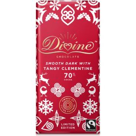 Divine Dark Chocolate with Clementine Ltd Edition 90g x15