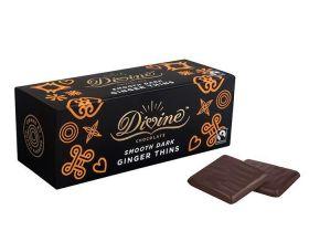 Divine Fairtrade Smooth Dark Chocolate Orange Thins 200g x12