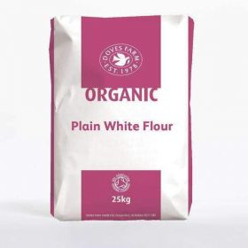 Doves Farm Org Plain White Flour 25kg x1