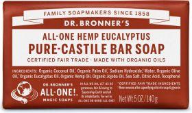 Dr Bronner Eucalyptus Bar Soap 140g x12