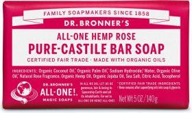Dr Bronner Rose Soap Bar 140g x12