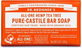 Dr Bronner Tea Tree Bar Soap 140g x12