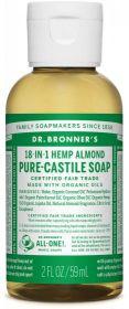 Dr Bronner Almond Pure-Castile Liquid Soap 60ml x12
