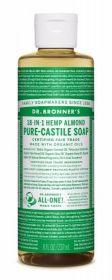 Dr Bronner Almond Pure-Castile Liquid Soap 237ml x6