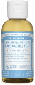 Dr Bronner Baby-Unscented Pure-Castile Liquid Soap 60ml x12
