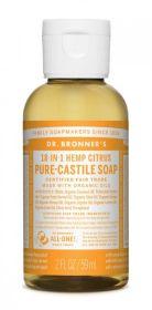Dr Bronner Citrus Orange Pure-Castile Liquid Soap 60ml x12