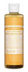 Dr Bronner Citrus Orange Pure-Castile Liquid Soap 237ml x6