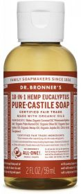 Dr Bronner Eucalyptus Pure-Castile Liquid Soap 60ml x12