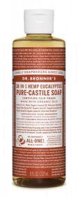Dr Bronner Eucalyptus Pure-Castile Liquid Soap 237ml x6