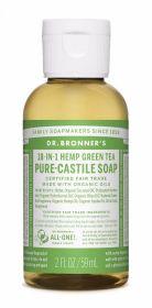 Dr Bronner Green Tea Pure-Castile Liquid Soap 60ml x12