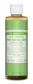 Dr Bronner Green Tea Pure-Castile Liquid Soap 237ml x6