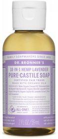 Dr Bronner Lavender Pure-Castile Liquid Soap 60ml x12