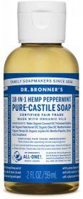 Dr Bronner Peppermint Pure-Castile Liquid Soap 60ml x12