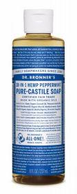 Dr Bronner Peppermint Pure-Castile Liquid Soap 237ml x6
