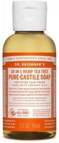 Dr Bronner Tea Tree Pure-Castile Liquid Soap 60ml x12