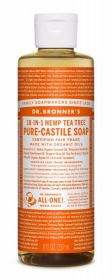 Dr Bronner Tea Tree Pure-Castile Liquid Soap 237ml x6