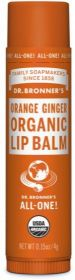 Dr Bronner Orange Ginger Organic Lip Balm 4g x12
