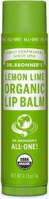 Dr Bronner Lemon Lime Organic Lip Balm 4g x12
