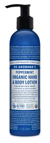 Dr Bronner Peppermint Org Hand/Body Lotion 236ml x6