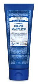 Dr Bronner Peppermint Organic Shaving Soaps 207ml x6