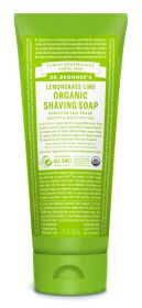 Dr Bronner Lemongrass Lime Org Shaving Soap 207ml x6
