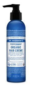 Dr Bronner Peppermint Organic Hair Creme 177ml x6