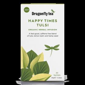 Dragonfly Speciality Happy Times Tulsi Organic Herbal Tea 20s 34gx4