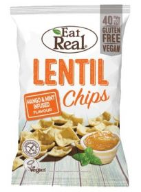 Eat Real Mango and Mint Infused Lentil Chips 113g x10