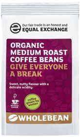 Equal Exchange Organic Medium Roast Coffee Beans 227g x8