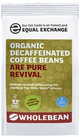 Equal Exchange Organic Decaffeinated Coffee Beans 227g x8